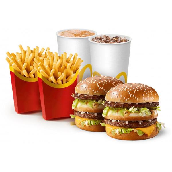 Обед на двоих с Биг Маком в Макдональдс