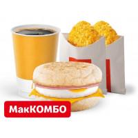 МакМаффин с яйцом и ветчиной МакКомбо за 147 руб
