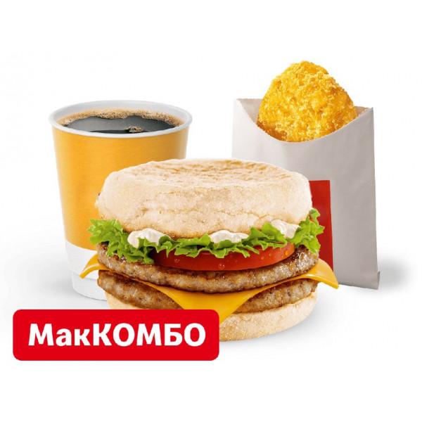 Двойной фреш МакМаффин МакКомбо в Макдональдс