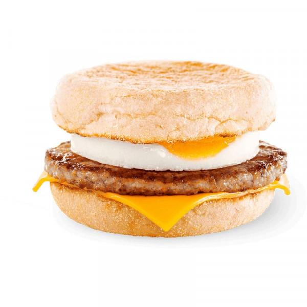 МакМаффин с яйцом и свиной котлетой в Макдональдс