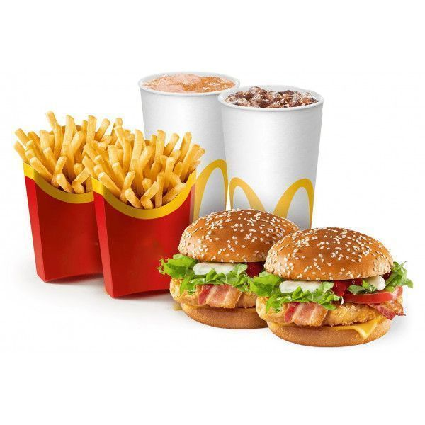 Обед на двоих с Чикен Премьер в Макдональдс