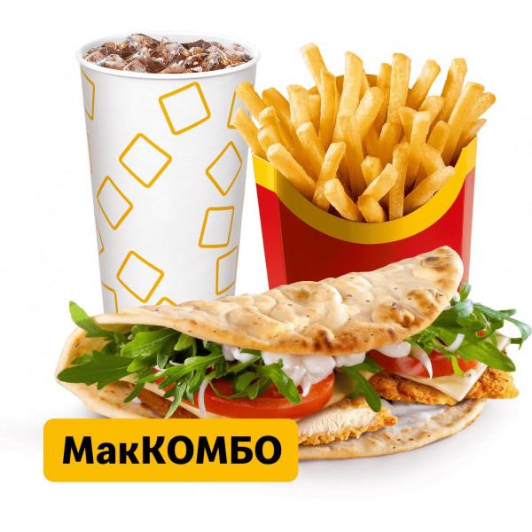Чикен Панини Тоскана МакКомбо в Макдональдс